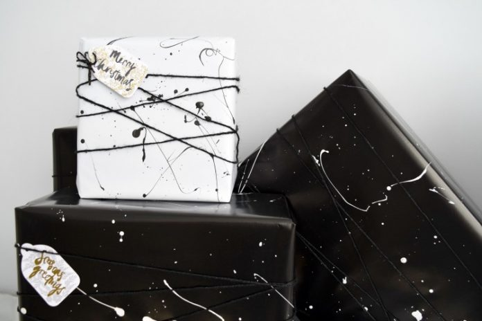 Close up of wrapping paper