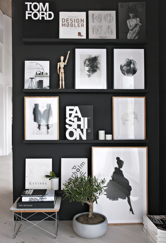 Gallery Wall Ideas Black And White : Ways to achieve a scandinavian interior style