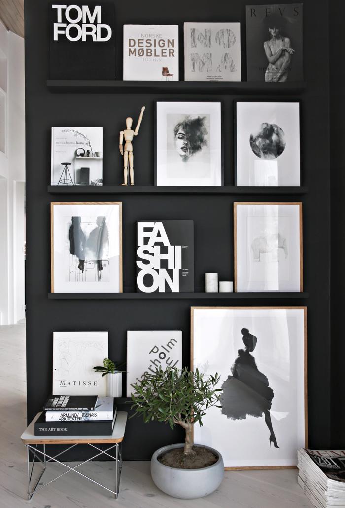 melhores cores neutras para paredes preto