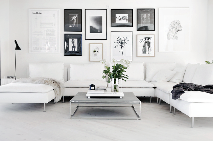 White Scandinavian living room