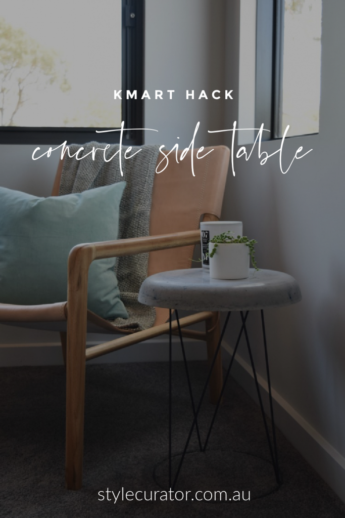 Kmart hack concrete side table