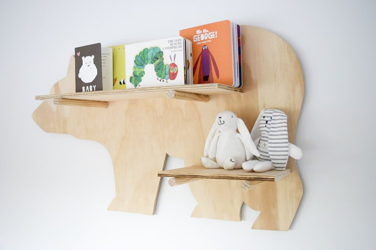Finished bear shelf