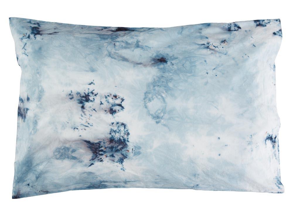 Indigo marble pillow