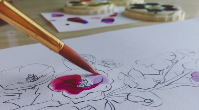 Start painting with watercolour