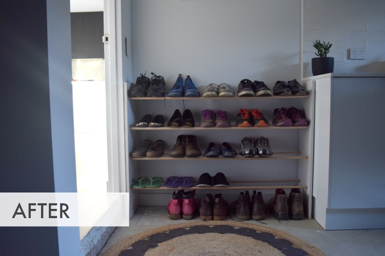After shoe rack