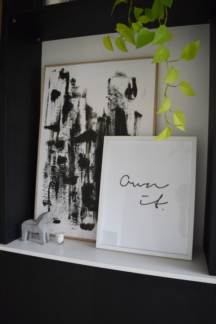 DIY minimalist black and white artwork