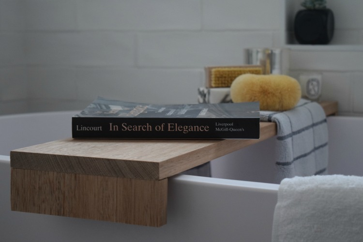 DIY bathtub shelf, how to make a bath tray
