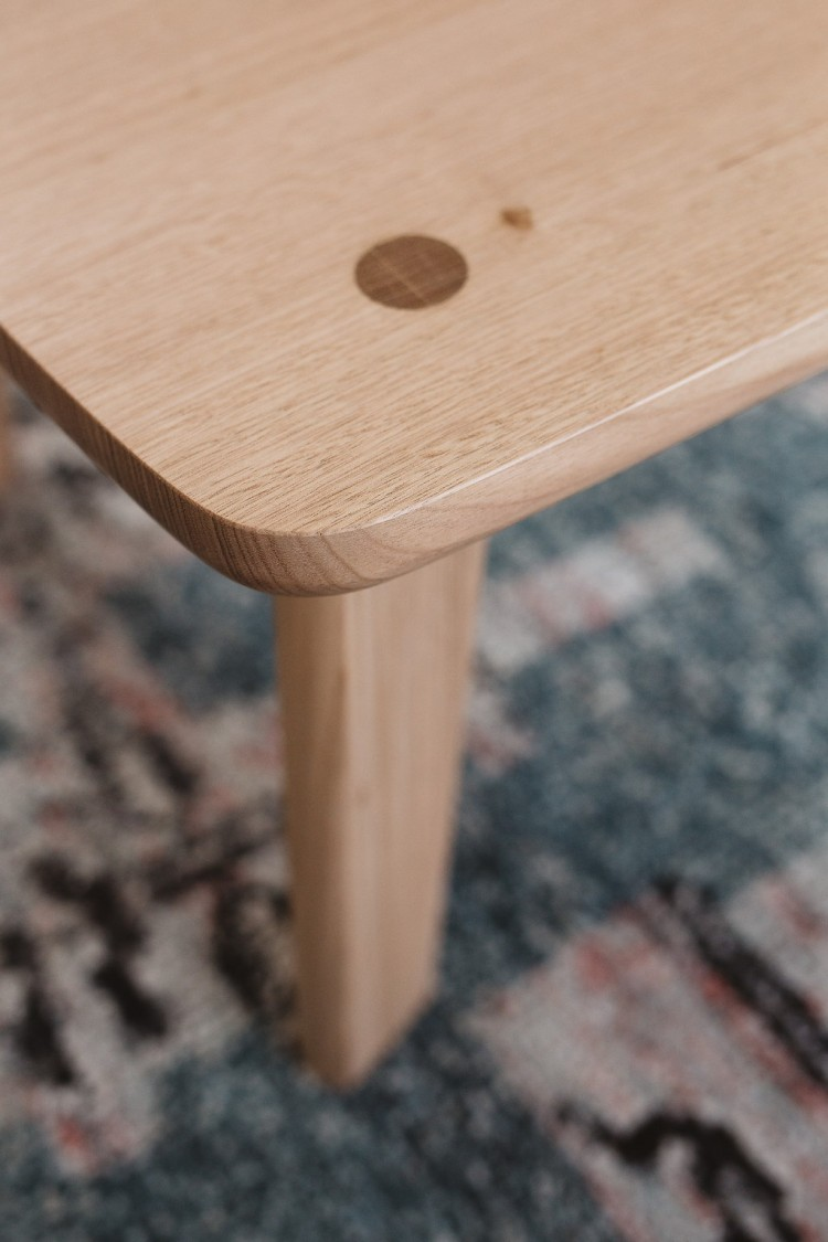 Detail of square side table