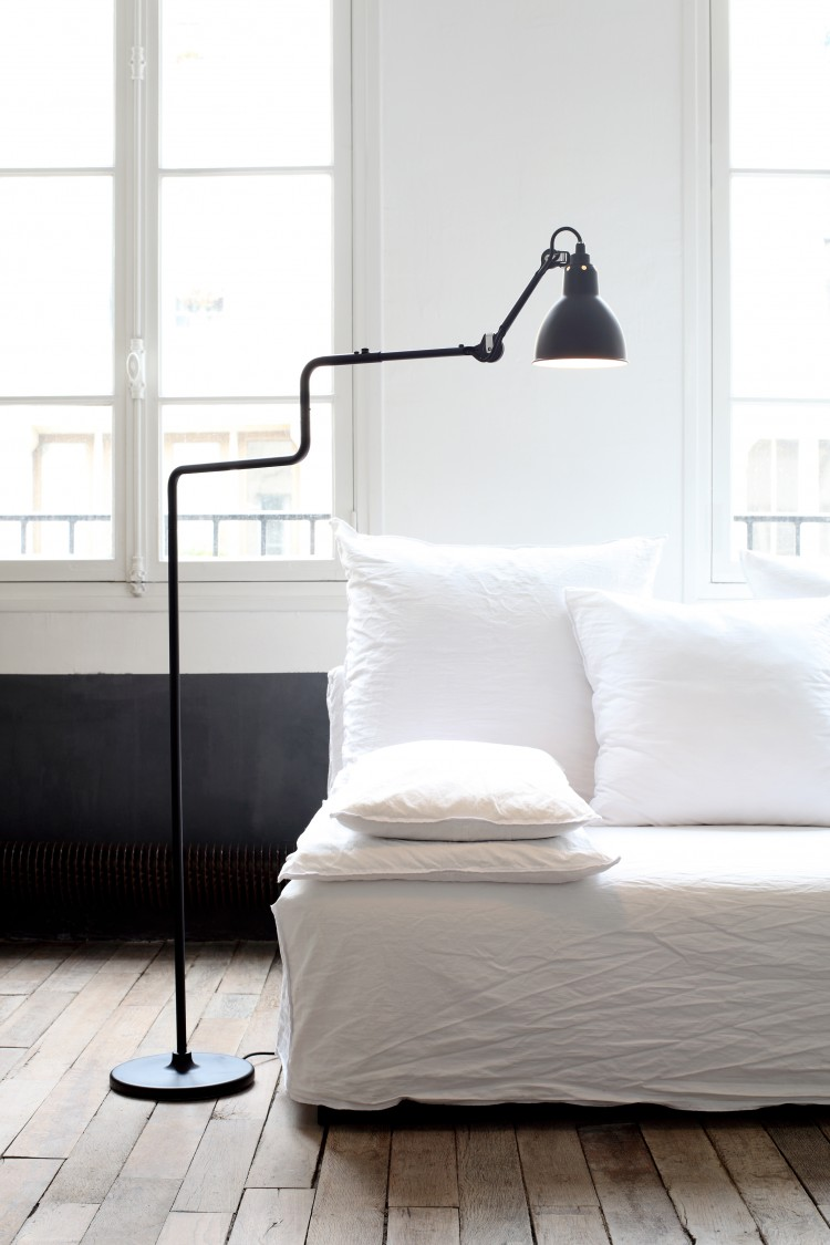 10 stylish floor lamps from luxe to less. Black Bedroom Furniture Sets. Home Design Ideas