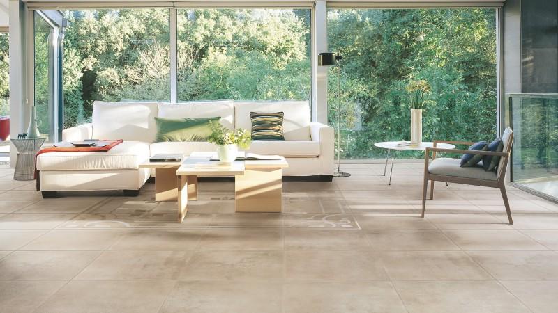 Concrete look tile