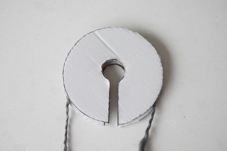 Place second cardboard ring on top