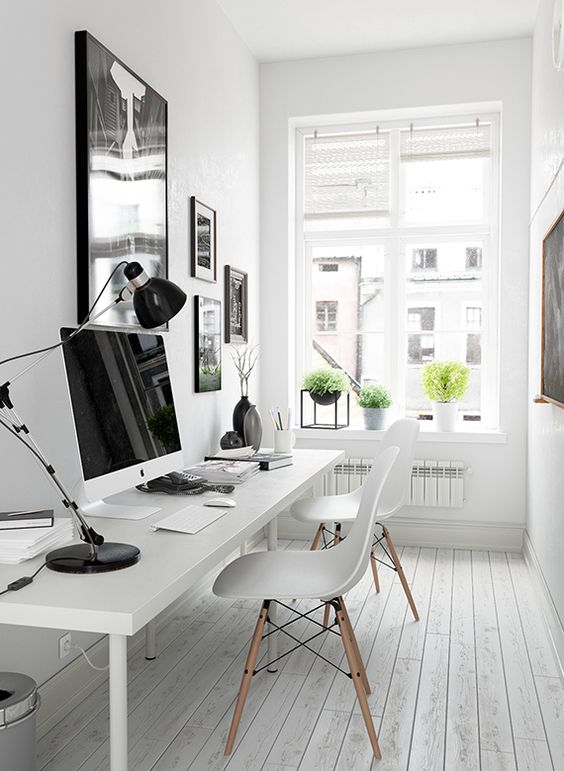Black and white workspace - STYLE CURATOR on antique desks for home office, turquoise home office, black white foyer, black white books, light blue home office, sage home office, gray home office, teal home office, brown home office, navy home office, hunter green home office, fuschia home office, black and white dressers ideas, oatmeal home office, black white craft room, gold home office, peach home office, ivory home office, black white lightning, orange home office,