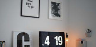 Desk and artwork