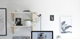 Shelf in home office