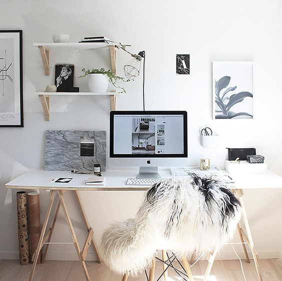 How to create the ultimate black and white office on a budget - Tumblr zimmer ikea ...