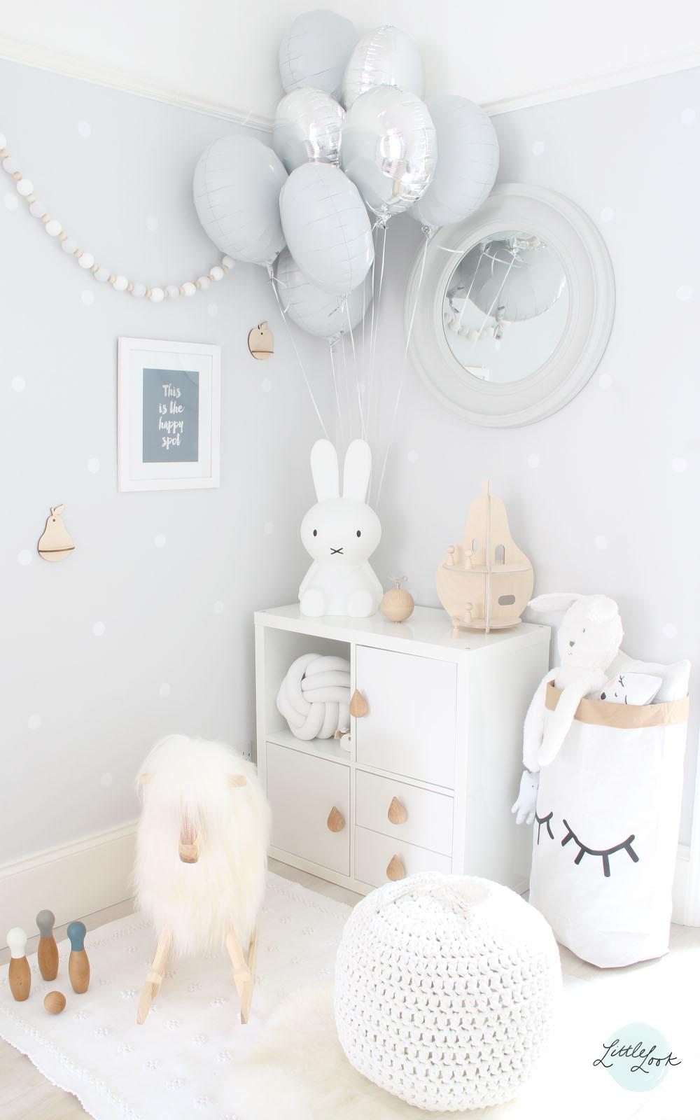 White and timber nursery