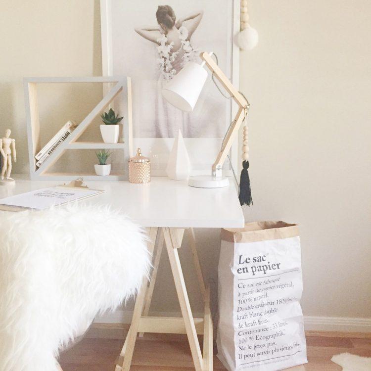 Cassie's Scandinavian-style creative workspace