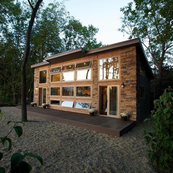 Brick tiny house