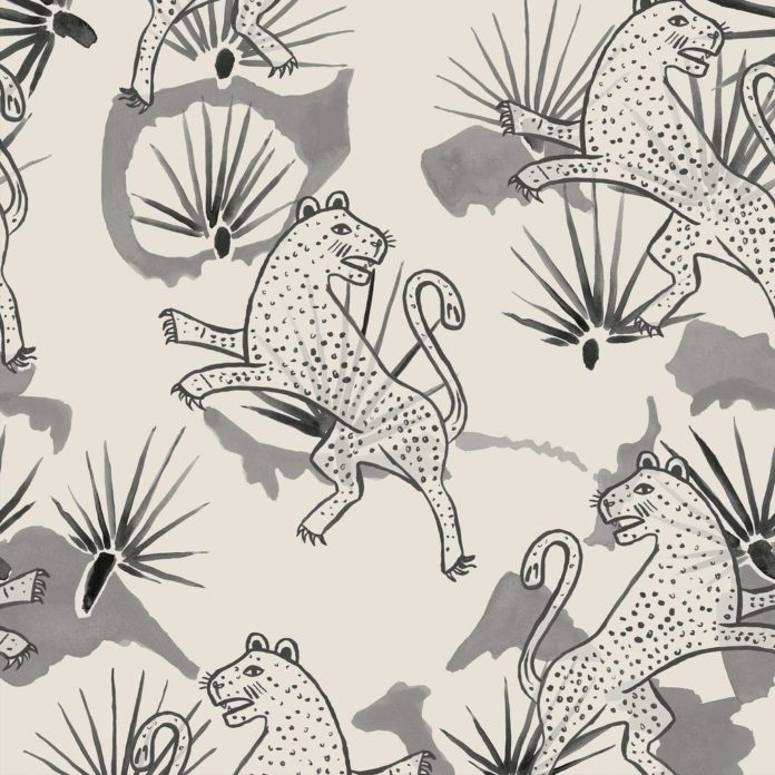 Leopard palm wallpaper by These Walls