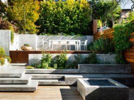 Split level outdoor area