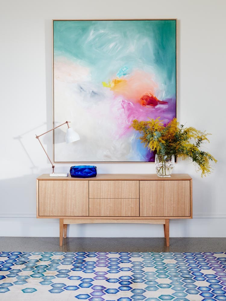 Sideboard and artwork