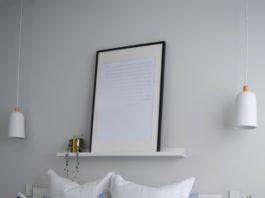Artwork above bed