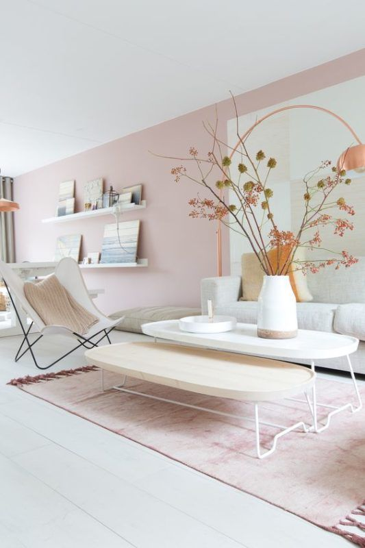 Blush Pink And Grey Living Room How To Pull Off The Look