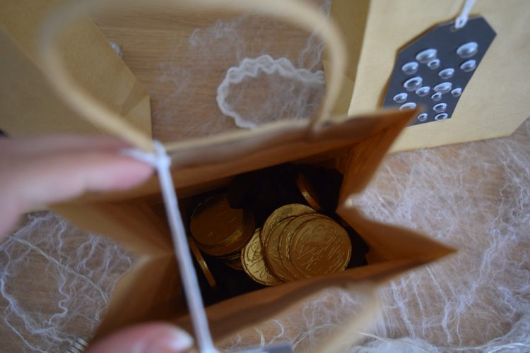 Gold coin party bag