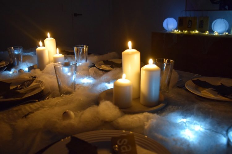 Spooky tablescape