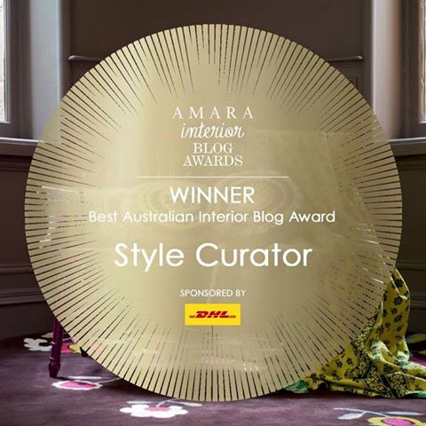 Style Curator announced Best Australian Interior Blog 2016 by AMARA