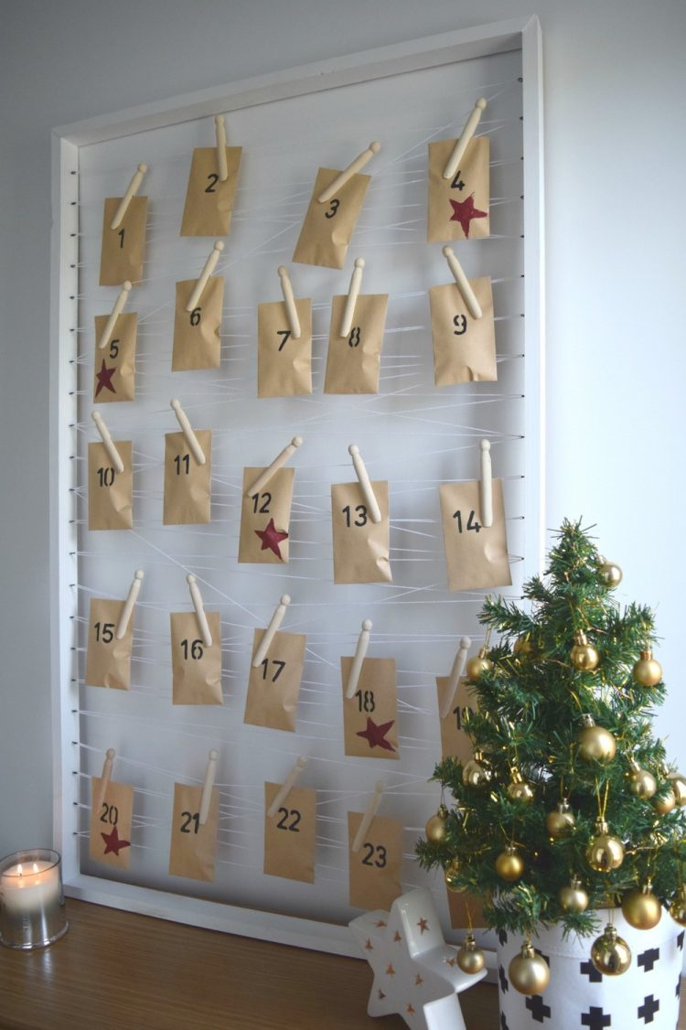 Minimalist DIY advent calendar idea