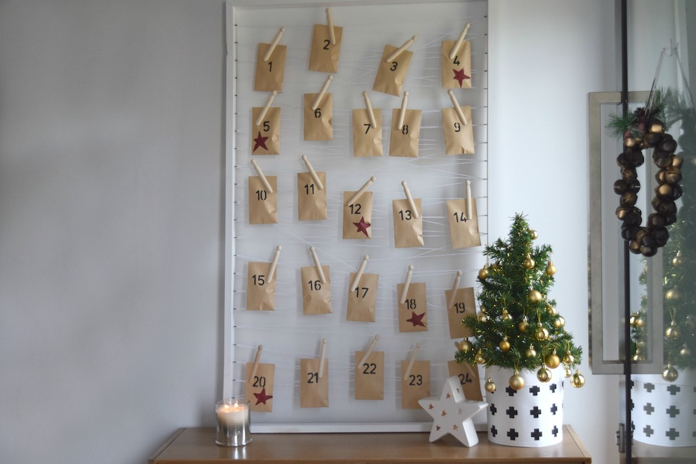 DIY advent calendar with stars
