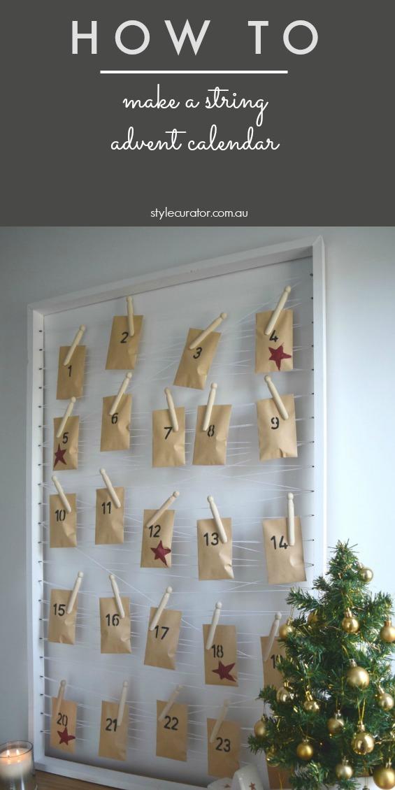 Make a string advent calendar