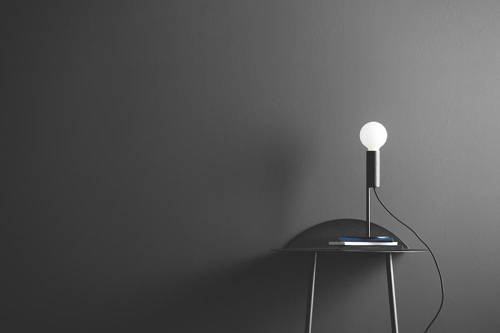 Lamp on hall table