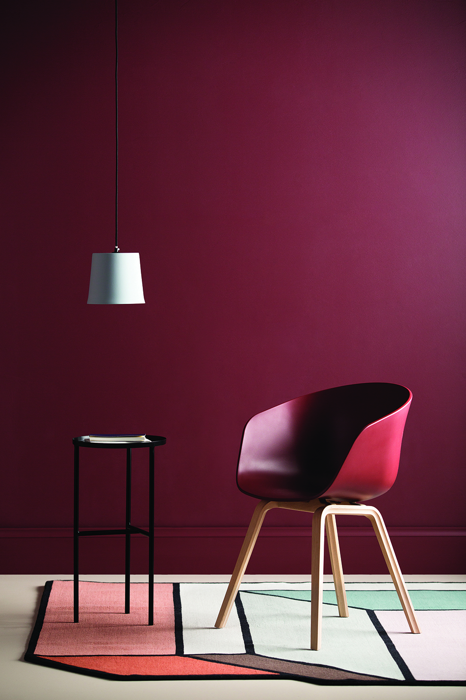 Mulberry wall colour