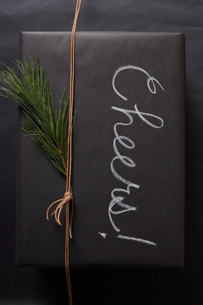 Blackboard wrapping paper