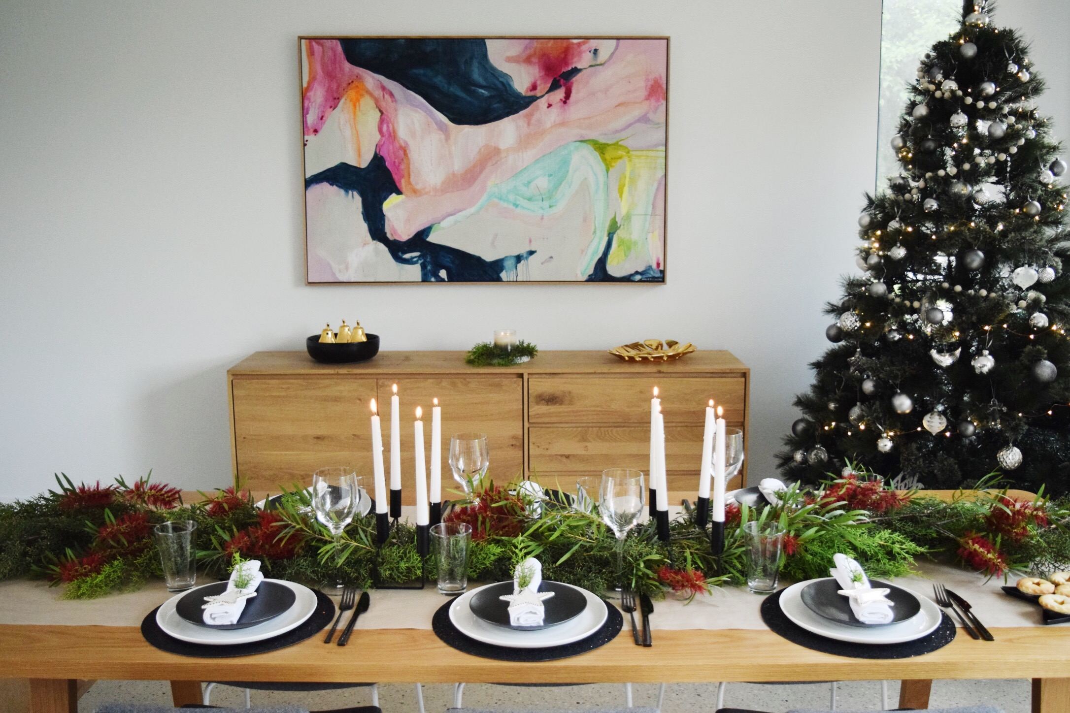 Australian Christmas table styling