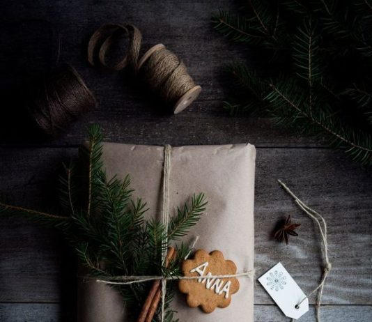 Gingerbread gift wrap