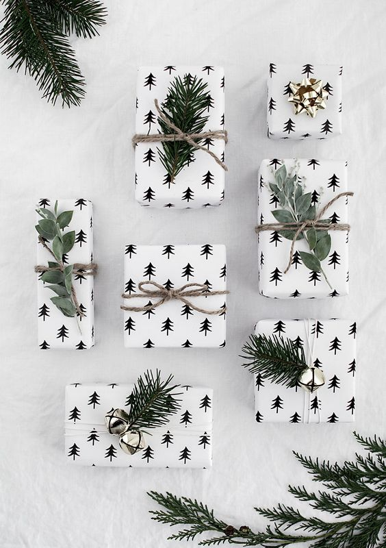 Pine tree Christmas wrapping