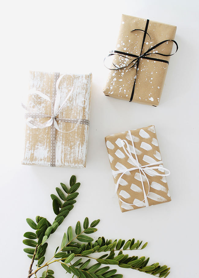 Paint effect gift wrap