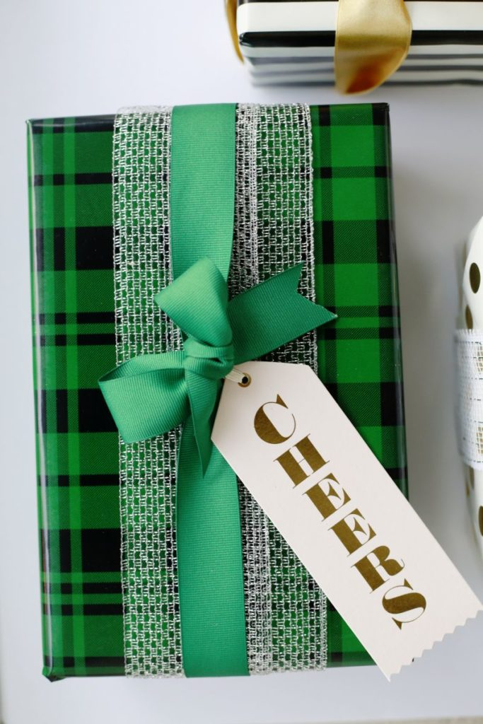 Plaid gift wrap