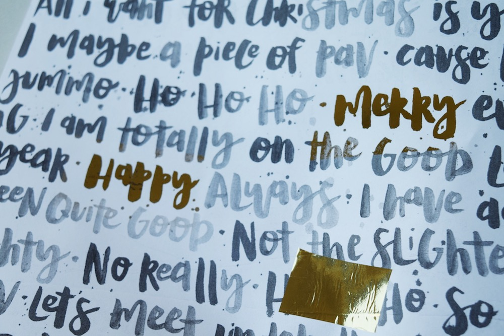 Remove gold foil to uncover the foiled words
