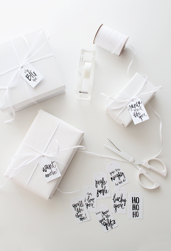 White on white gift wrapping