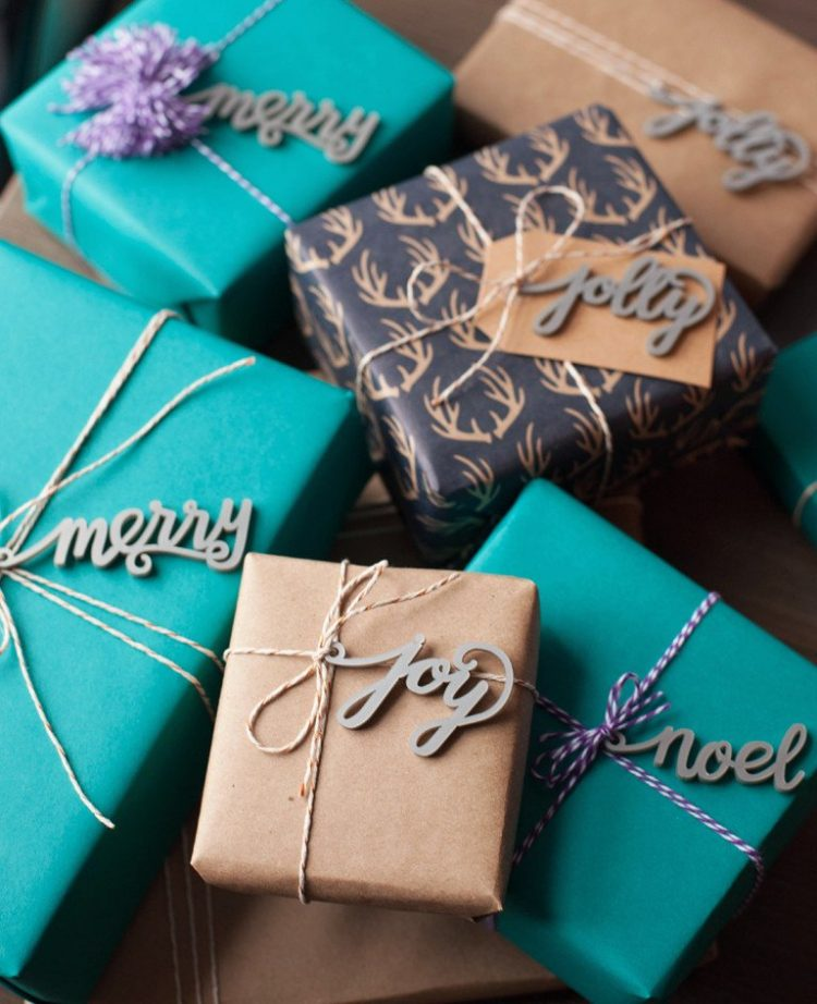 Timber calligraphy gift tags