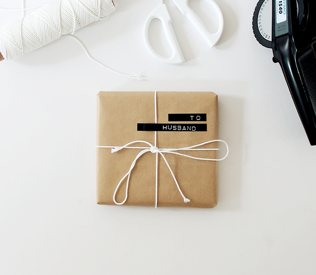 Label gift wrap