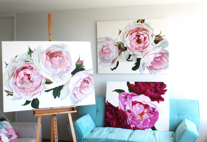 Collection of floral artwork