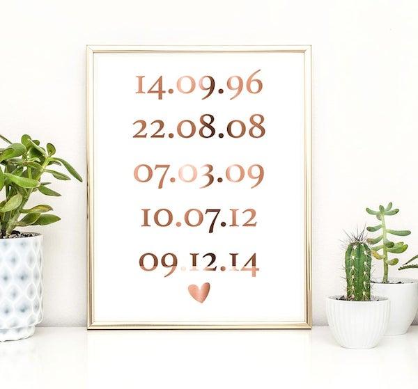 Dates print