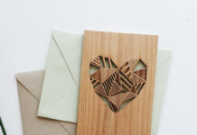 Wood heart card by Cardtorial