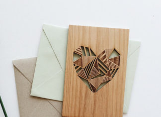 Wood heart card by Cardtorial
