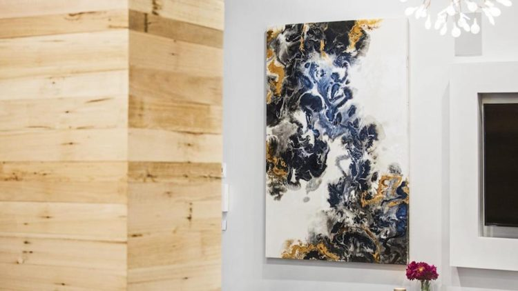 Discover Larissa's fluid mixed media artworks as seen on The Block